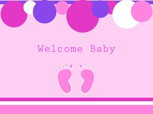 Footprint clipart baby shower Clipart baby Baby Pink a