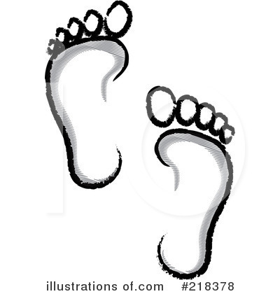 Footprint clipart bare By Royalty (RF) Clipart Illustration