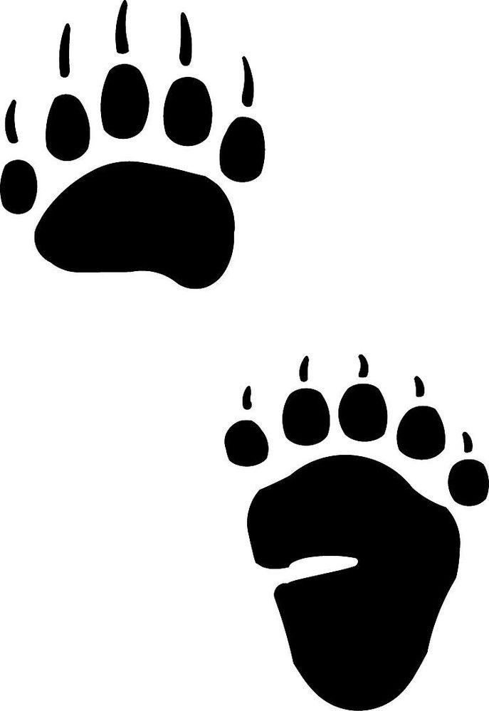 Footprint clipart black bear Tattoos Bear Bear Bear