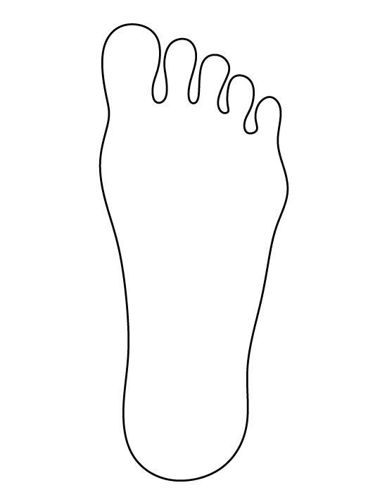 Footprint clipart blank Clip printable footprint template download