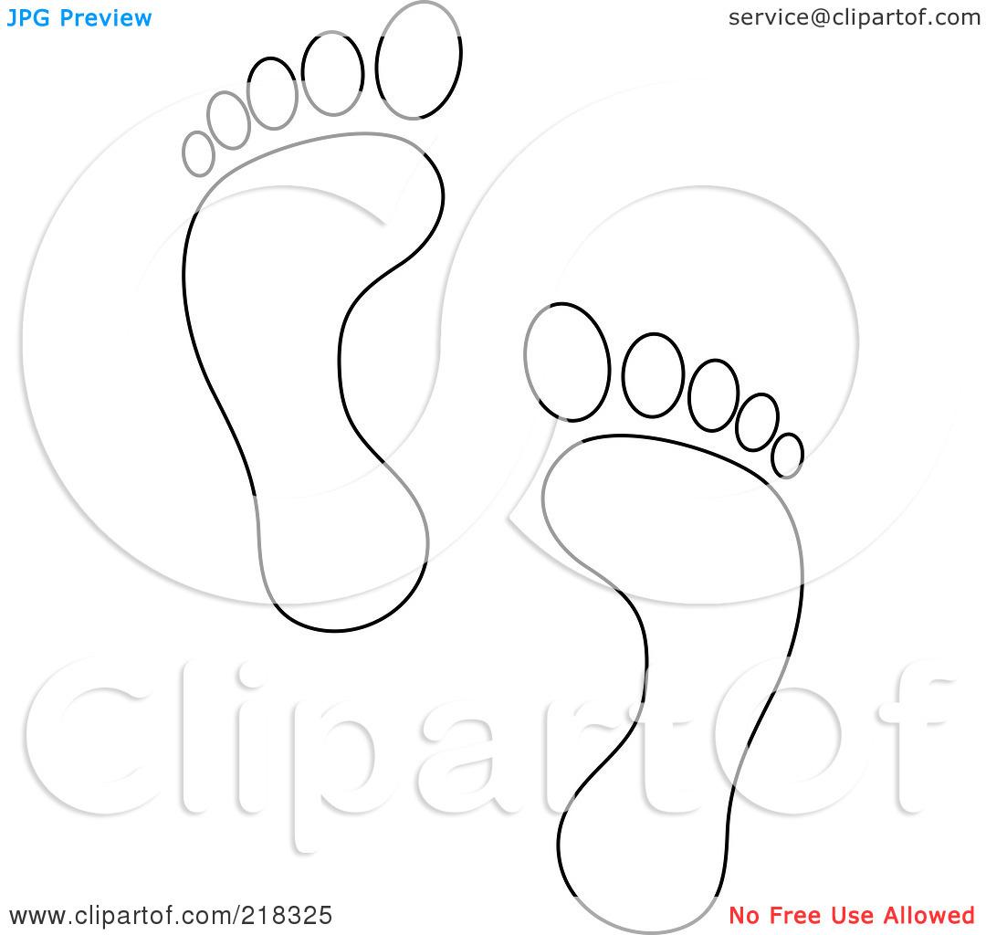 Footprint clipart blank #5 Download coloring drawings Footprint