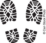Footprint clipart boot Footprint 10  Print Clipart