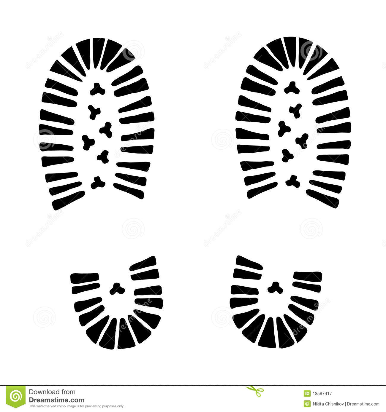 Footprint clipart boot tracks Boot Art Print shoe print