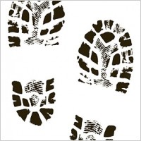 Footprint clipart boot tracks Print Print Vector Boot Boot