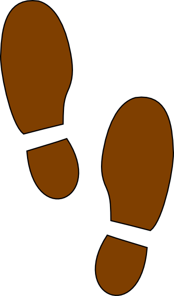 Footprint clipart brown Online as: vector clip this