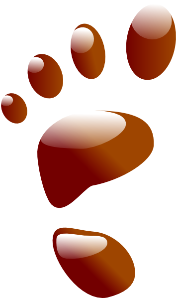 Footprint clipart brown Art clip art Footprint Brown