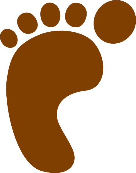 Footprint clipart brown Public Art Art vector royalty