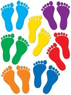 Footprint clipart colored 409 Find on and Farby