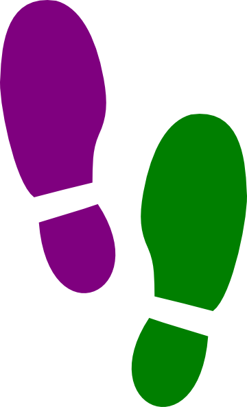 Footprint clipart colored Clip Shoe Footprints  Free