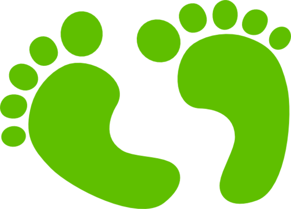 Footprint clipart colored Art Baby clip free footprints