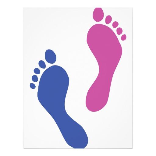 Footprint clipart colored Cm footprints Free 5 Footprints