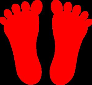 Footprint clipart colored Art Red clip Art vector