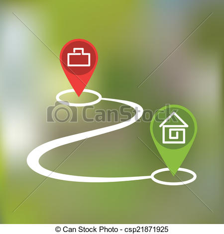 Footprint clipart curved path Vector path icon path with