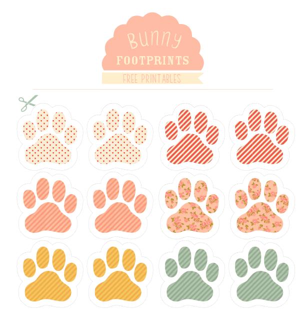 Footprint clipart easter bunny Love Bunny art the printable