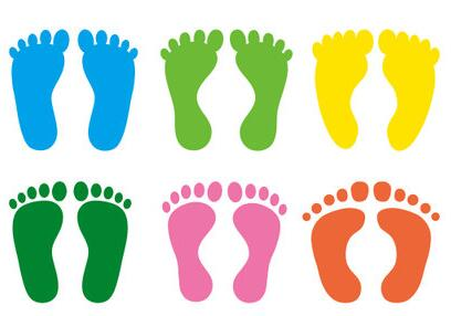 Footprint clipart floor Buy Footprint Store pvc Cartoon