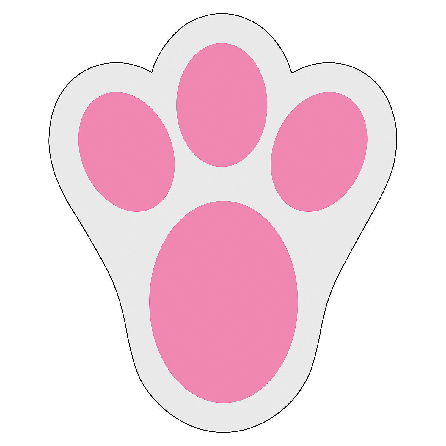 Footprint clipart floor Bunny with feet автор Clipart
