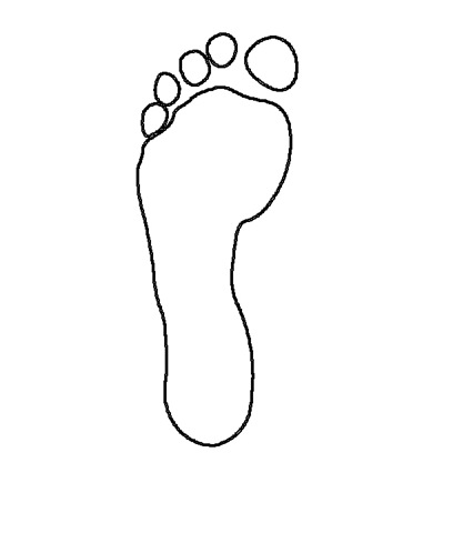 Footprint clipart footprint outline Art Download library Clipart Free