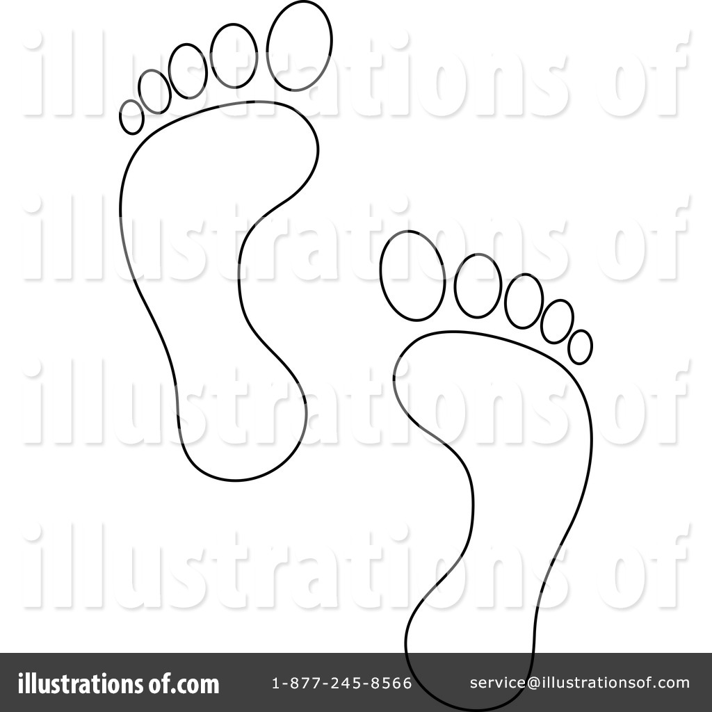 Footprint clipart footprint outline Clipart footprint Illustration #218325 Clipart