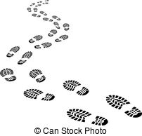 Footprint clipart jesus Clipart Clip of Footprint footseps
