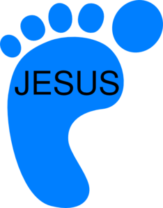 Footprint clipart jesus Clker Clip Art online free