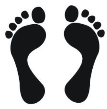 Footprint clipart jesus In the Heuning In ::