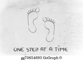 Footprint clipart moving forward One move one footprint step