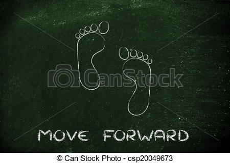 Footprint clipart moving forward Illustrations  Stock move time: