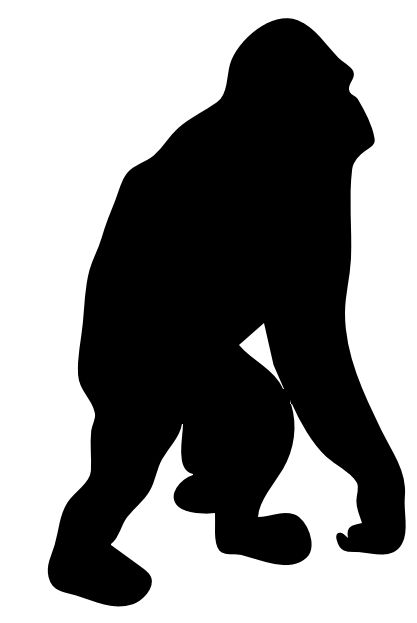 Orangutan clipart orange Domain Orangutan Clip Clipart of