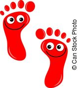 Footprint clipart quiet foot Stock cartoon footprints Feet 512