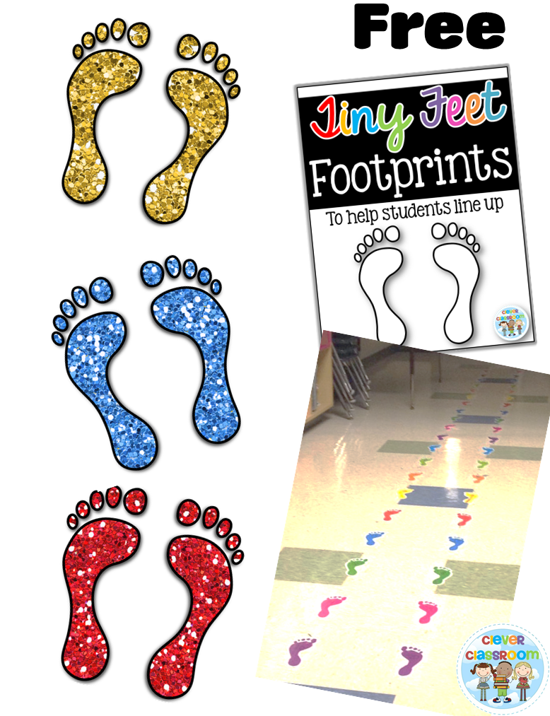 Footprint clipart quiet foot Up Clever Classroom Help Blog
