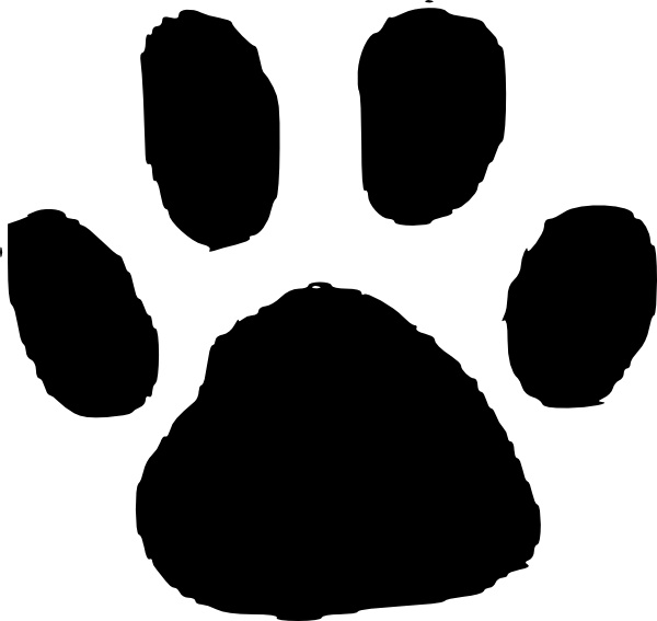 Paw clipart animal foot Open Footprint vector drawing in