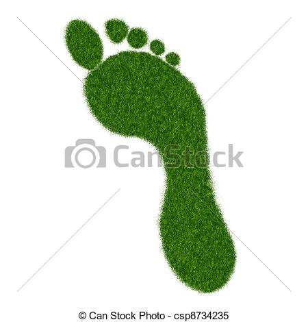 Footprint clipart realistic Illustration Realistic Realistic Stock Grass