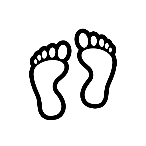Footprint clipart right  outline Foot Hollow Clip