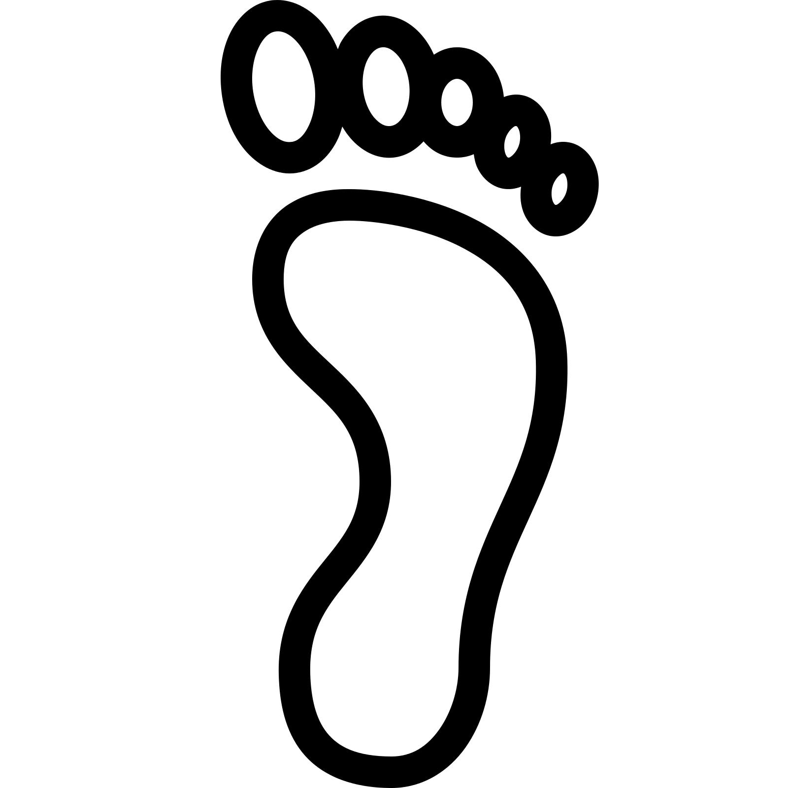 Footprint clipart right Bare PNG Download and right