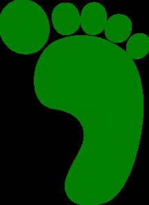Footprint clipart right foot Clip  Foot Art Green