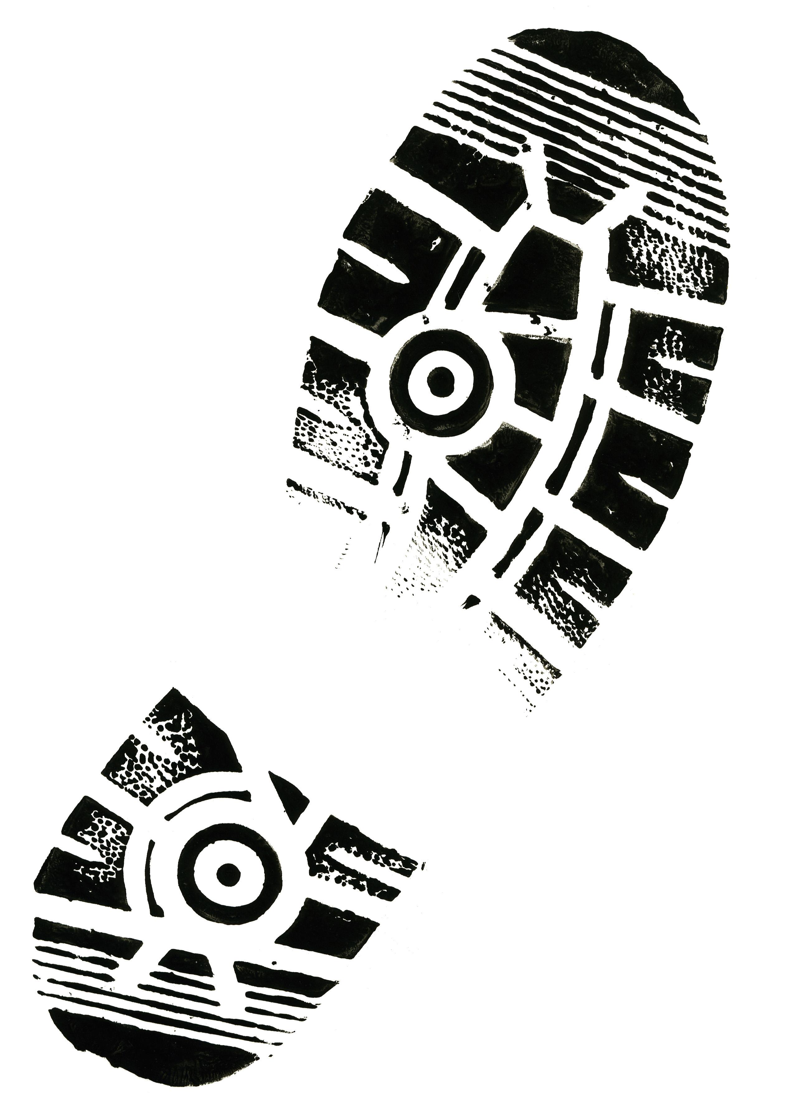 Footprint clipart rubber shoe Shoes Clipart print Running Shoe