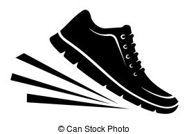Footprint clipart running shoe Clipart shoes  Vector Shoes