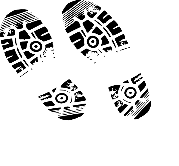 Footprint clipart running shoe Clip  Tennis Shoe Art