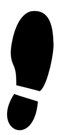 Footprint clipart shoe print Free print Excellent Clipart Clipart