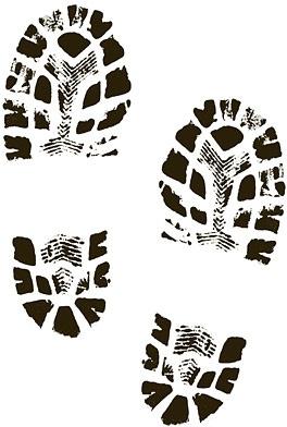 Footprint clipart shoe print Boots  in shoe art