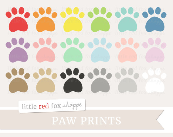 Paw clipart animal foot Print Clip Paw Clipart Small