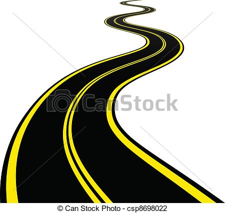Stone clipart windy path Road Clip winding vector EPS