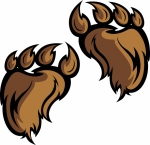 Footprint clipart yeti Claws Bigfoot or  or