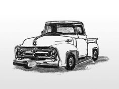 Classical clipart ford truck Pick trucks coloring up Coloring