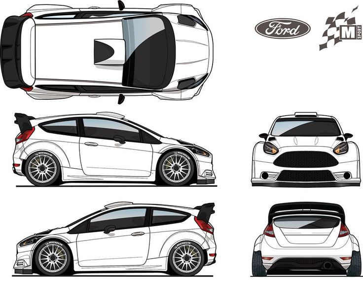 Ford clipart ford fiesta Ford RS Cars Blueprint Database