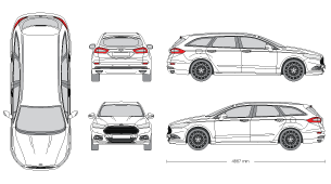 Ford clipart ford mondeo Realistic Photo mr 3D Mockups