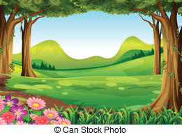 Forest clipart Green and green forest Art