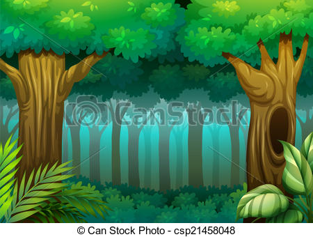 Forest clipart Forest and Forest scene Art