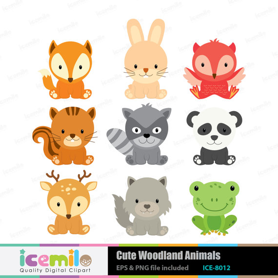 Baby Animal clipart woodland Woodland Etsy on on Animals