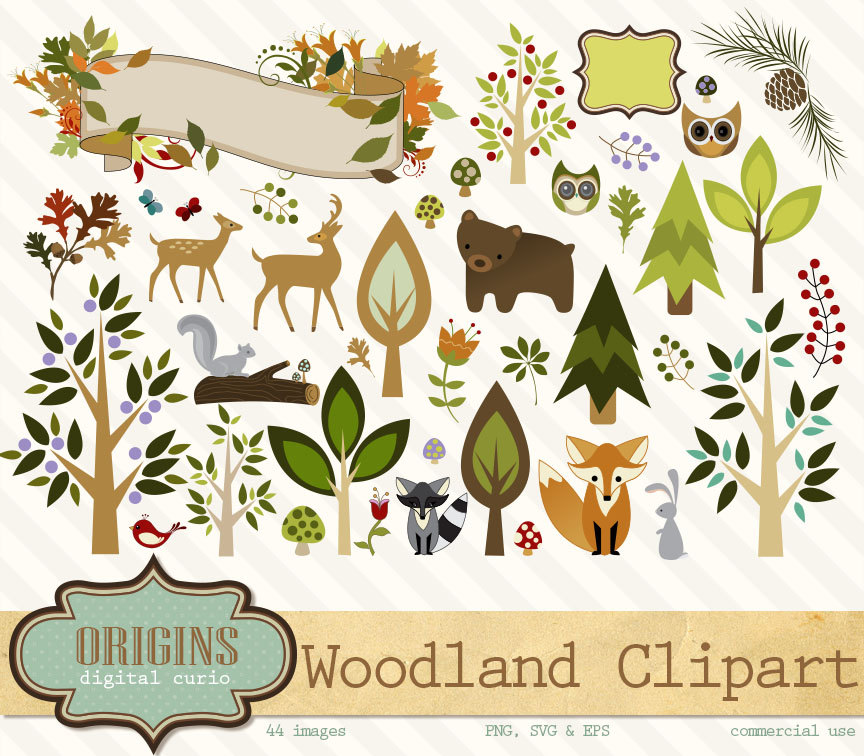 Rabbit clipart forest animal #4
